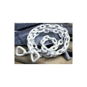 WHITECAP S-1582 VINYL COATED ANCHOR CHAIN - 1 / 4 INCH x 4 FEET