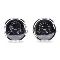 "SIERRA 20000P PREMIER STAINLESS SERIES 5"" MULTI-FUNCTION GAUGE KIT - FITS MERCURY & YAMAHA OUTBOARDS"
