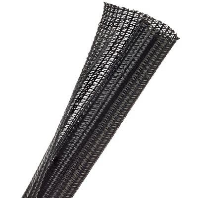 F6N0.75 BLACK 50ft X 3 / 4 INCH SPLIT TECHFLEX EXPANDABLE SLEEVING