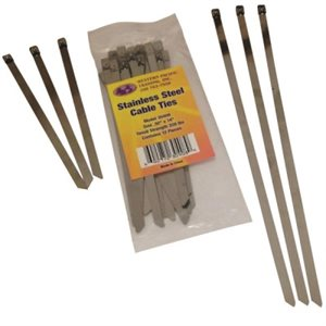 WESTERN PACIFIC 30420 8 INCH STAINLESS STEEL CABLE TIE 50 PACK
