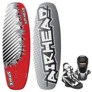 AIRHEAD AHW-20201 SPIKE WAKEBOARD WITH VENOM SIZE 4 TO 8 YOUTH BINDING